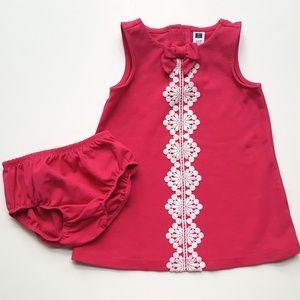 Janie & Jack Roman Holiday Pink Ponte Dress